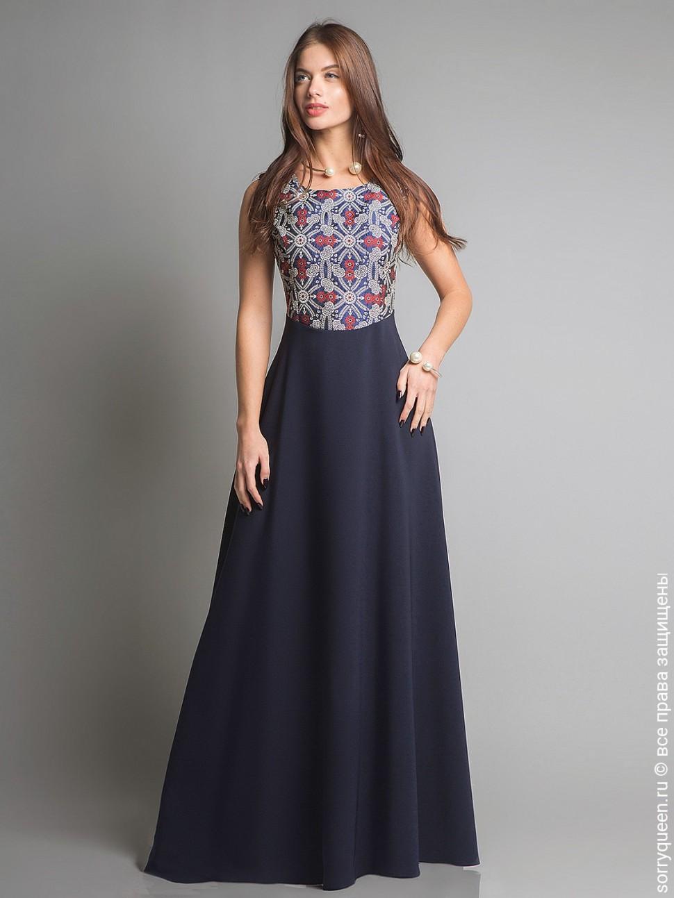 082d68d1b97 Купить платье cs 205 синее в интернет магазине mirplatev.ru недорого ...